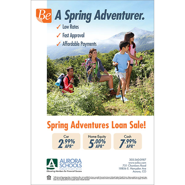 loan poster - spring car, home equity, personal