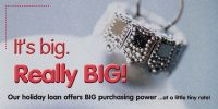 holiday banner showing close up of Christmas tree ornament; headline: It's big. Really BIG!