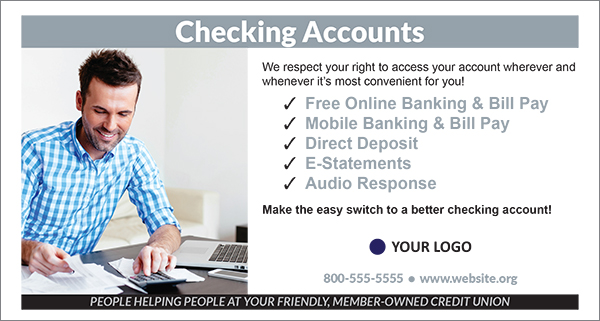 checking drive up envelope showing smiling man with calculator and laptop working on his bills