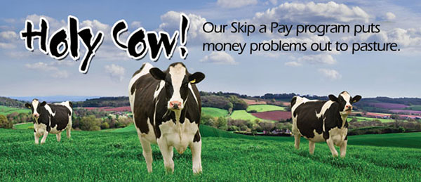 skip a pay statement insert - holy cow