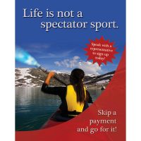skip a pay poster - life is not a spectator sport