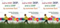 Summer themed skip a pay tent card