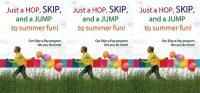 Summer themed skip a pay tent card