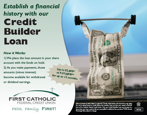 Cash themed Credit Builder Loan ad