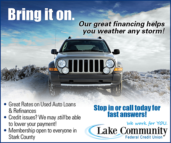 Snowstorm themed auto financing ad