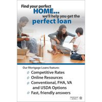 mortgage poster - perfect home, perfect loan