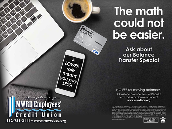 modern desktop credit card ad