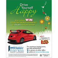auto loan poster - win payment or fuel