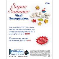 Summer themed Visa poster