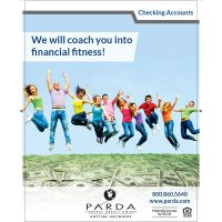 checking poster - fitness coach
