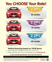 Term and rate based auto financing poster