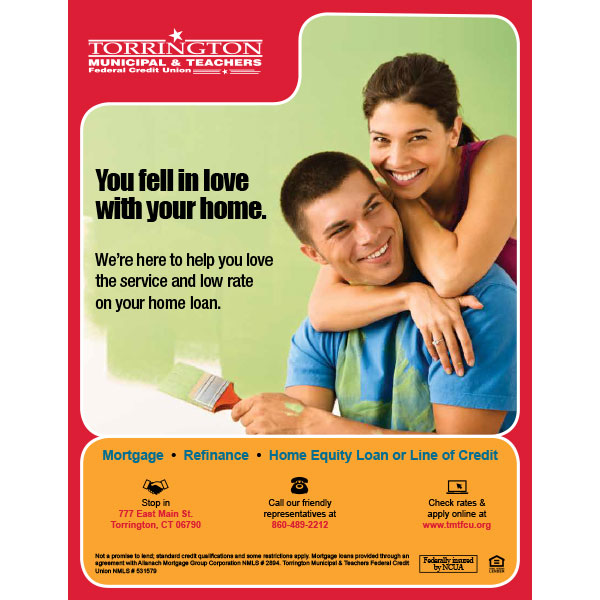 home loan poster - young couple painting
